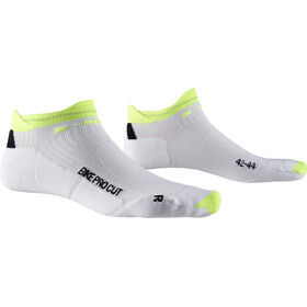 X-Socks Bike Pro Cut Calze, arctic white/phyton yellow